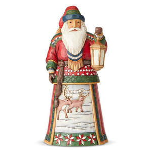 "Heartwood Creek - 26cm/10.25"" Lapland Santa with Lantern"