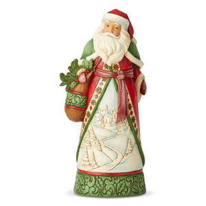"Heartwood Creek - 26cm/10.24"" Santa with Winter Scene"
