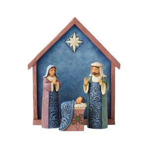 Heartwood Creek Nativity - 4Pc Nativity Set