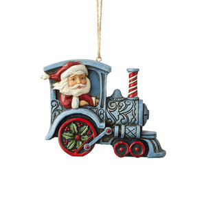 Heartwood Creek Hanging Ornaments - Santa In Train Engine