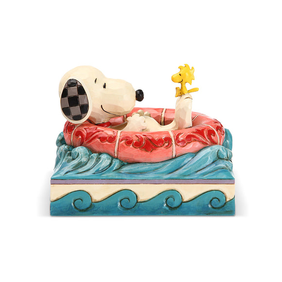 Peanuts by Jim Shore - Snoopy/Woodstock in Floatie
