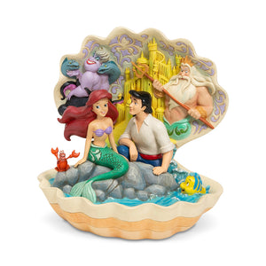 Disney Traditions - Seashell Scenario (The Little Mermaid Shell Scene Figurine)