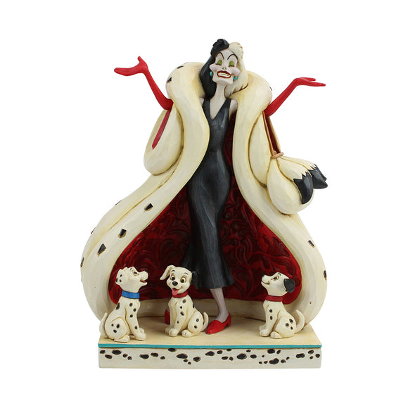 Disney Traditions - The Cute and the Cruel (Cruella and Puppies Figurine)