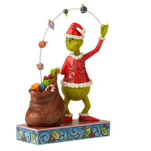 "Grinch by Jim Shore - 21.8cm/8.6"" Grinch Juggling Gifts Into Bag"