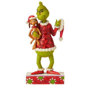 "Grinch by Jim Shore - 19.3cm/7.6"" Grinch Holding Max Under Arm"