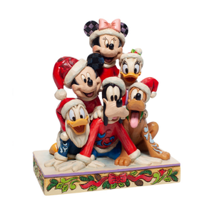 "Disney Traditions - 15cm/5.9"" Mickey & Friends, Piled High with Holiday Cheer"