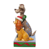 "Disney Traditions - 17cm/6.6"" Christmas Lady & Tramp, Decked Out Dogs"
