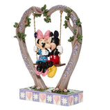 "Disney Traditions - 22.8cm/9"" Mickey & Minnie on Swing"