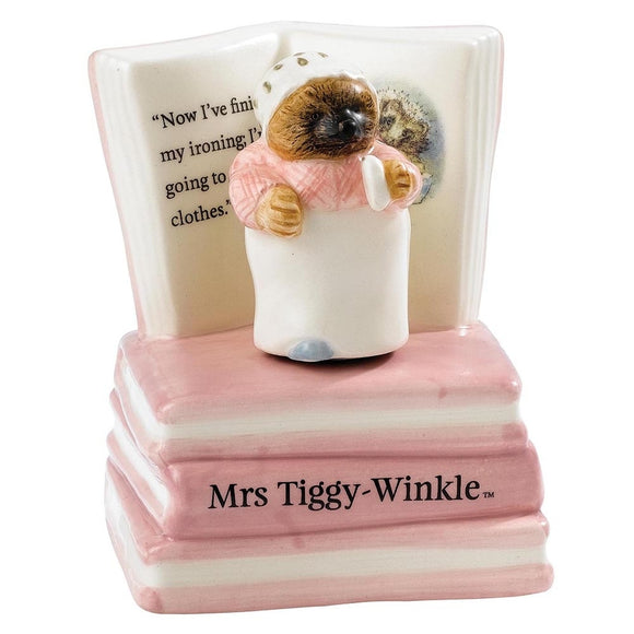 BEATRIX POTTER LARGE FIGURINE MRS. TIGGY-WINKLE MUSICAL