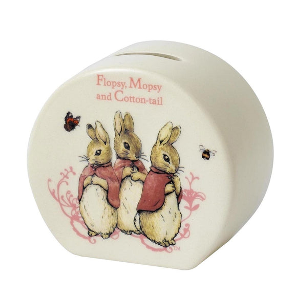 Beatrix Potter Nursery - Flopsy, Mopsy & Cotton-tail Money Bank