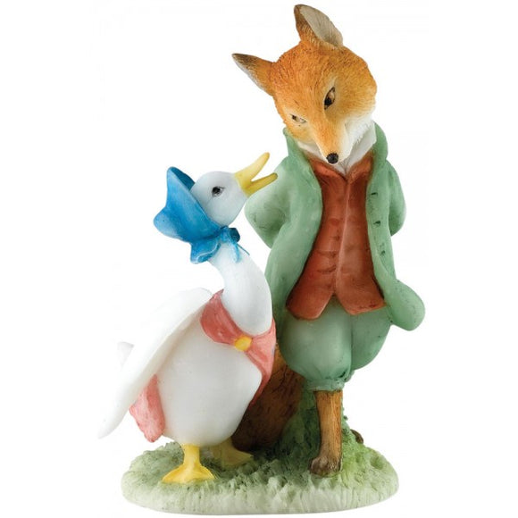 Beatrix Potter Mini Figurine Jemima and The Foxy-Whiskered Gentleman 8cm