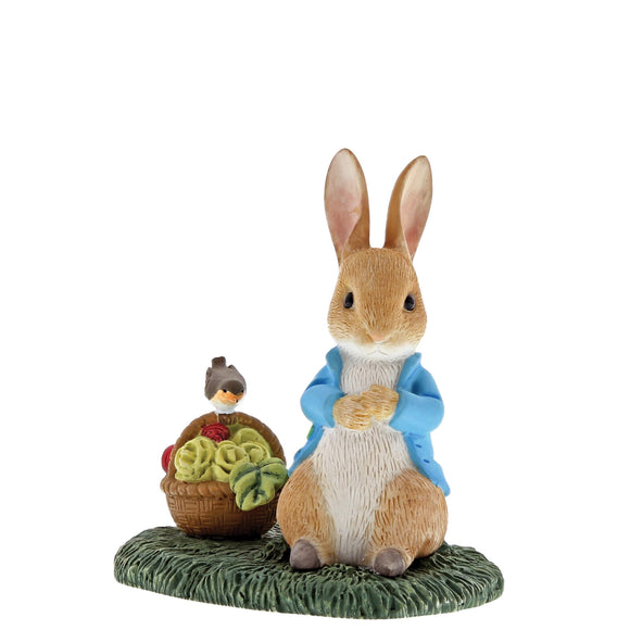 Beatrix Potter Mini Figurine Peter Rabbit with Basket