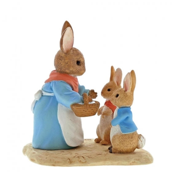 Beatrix Potter Mini Figurine Mrs. Rabbit, Flopsy And Peter