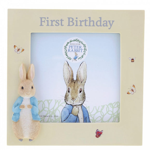 Beatrix Potter Nursery - Peter Rabbit First Birthday Photo Frame