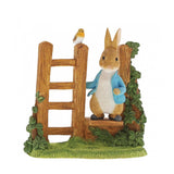Beatrix Potter Miniature Figurine - Peter Rabbit on Wooden Stile
