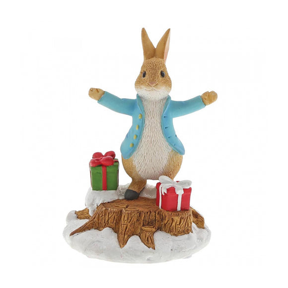 Beatrix Potter Mini Figurine - Peter Rabbit With Presents