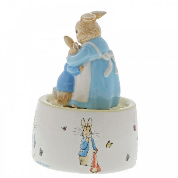 Beatrix Potter Nursery - Mrs. Rabbit and Peter Ceramic Musical