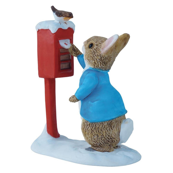 Beatrix Potter Mini Figurine - PETER RABBIT POSTING A LETTER