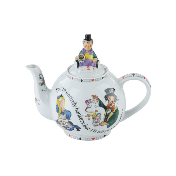 Cardew Design - Alice Mad Hatter 4-Cup, 30oz Teapot