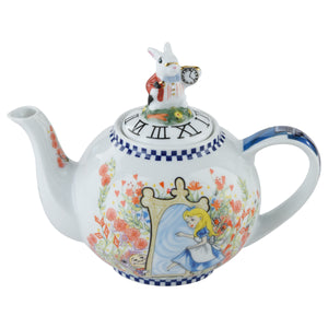 Cardew Design - Alice Through The Looking Glass 2-Cup, 18oz Teapot with White Rabbit Lid
