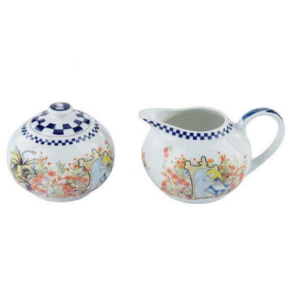 Cardew Design - Alice Through The Looking Glass Milk Jug & Sugar Bowl (Set of 2)
