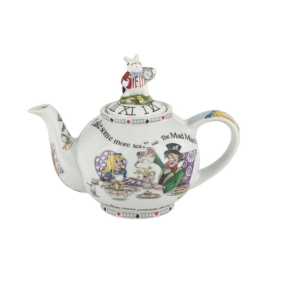 Cardew Design - Alice In Wonderland 2-Cup, 18oz Teapot with Rabbit Lid
