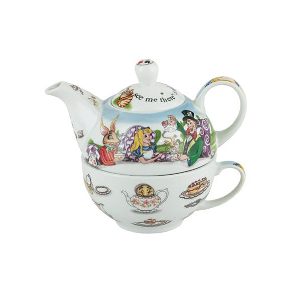 Cardew Design - Alice In Wonderland Tea For One Teapot & Cup