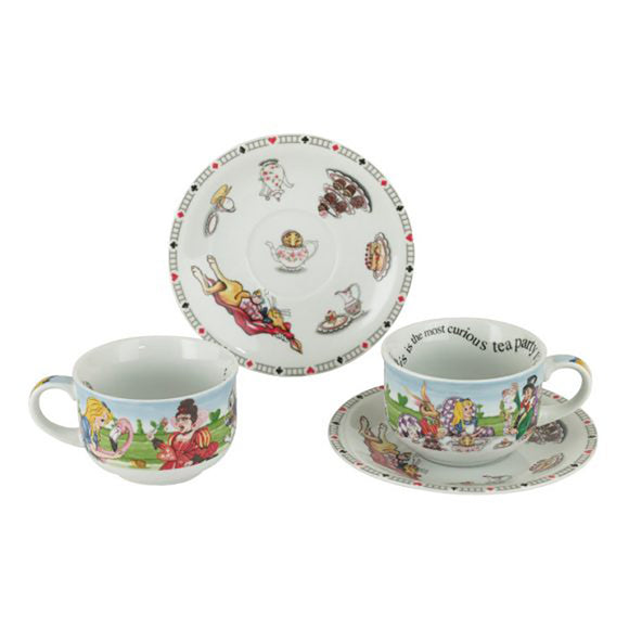 Cardew Design - Alice 8oz Cups & Saucers (Set of 2)