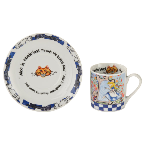 Cardew Design - Alice Through The Looking Glass Cup & Saucer