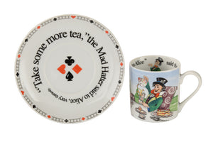 Cardew Design - Alice Mad Hatter Tea Party Cup & Saucer
