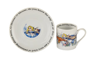 Cardew Design - Alice Swimming 6oz Cup & Saucer