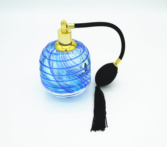 Coloured Glass - Perfume Bottle Blue