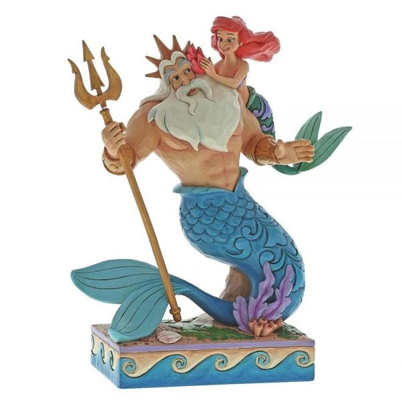 Disney Traditions - Ariel & Triton Daddy's Little Princess