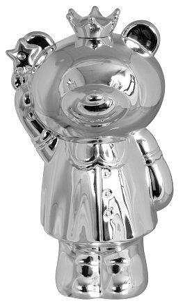 Money Bank - SILVER PLATE PRINCESS BEAR - Gifts for Kids