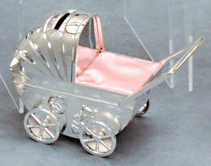 Money Bank - SILVER PLATE PRAM - Gifts for Kids