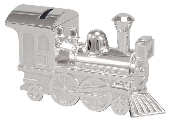 Money Bank - SILVER PLATE TRAIN - Gifts for Kids