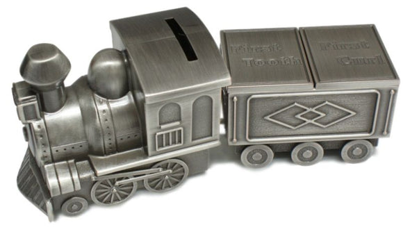 MINI TRAIN TOOTH & CURL CARRIAGE PEWTER FINISH - Gifts for Kids