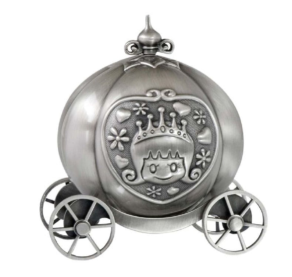 Money Bank - PUMPKIN COACH PEWTER FINISH - Gifts for Kids