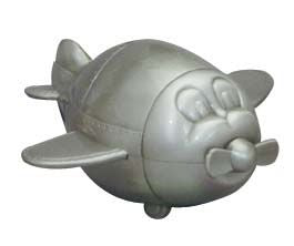 Money Bank - PLANE PEWTER FINISH - Gifts for Kids