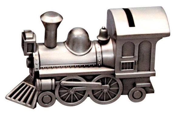 Money Bank - TRAIN PEWTER FINISH - Gifts for Kids