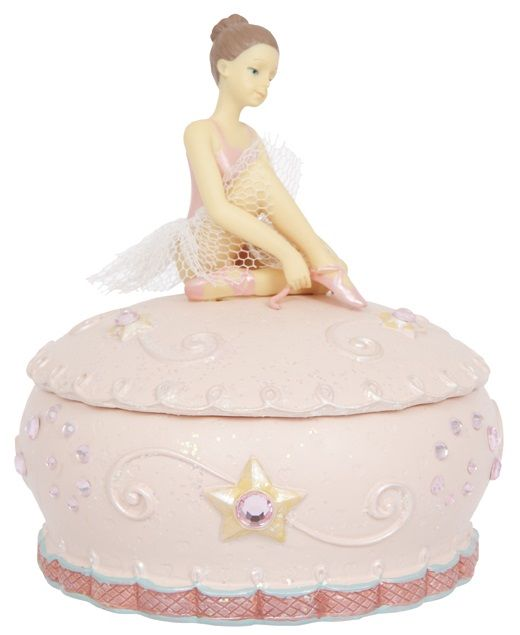 Jewellry Box Resin With Ballerina Musical