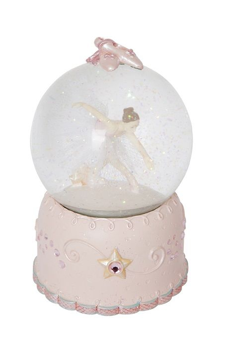 MUSICAL SNOW DOME RESIN BALLERINA