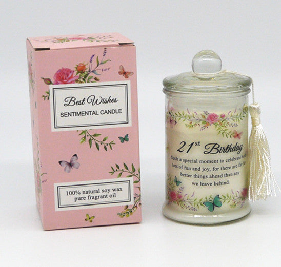 Scented Wishes Candle In The Jar 21st Birthday