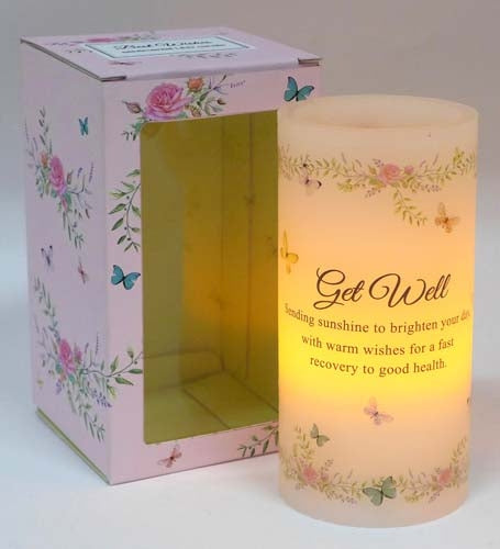 Scented Wishes Led Candle Get Well