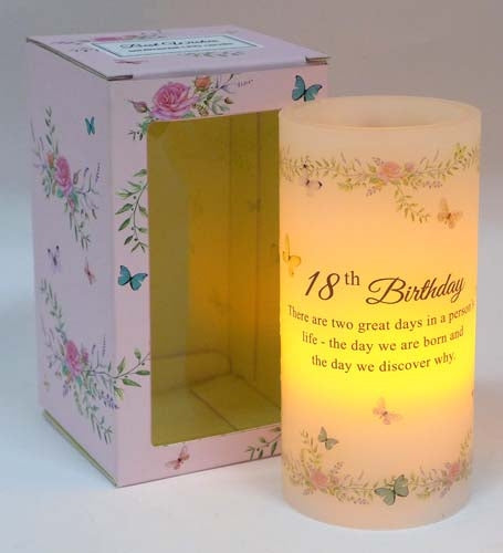 Scented Wishes Led Candle Happy 18th