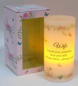 Scented Wishes Led Candle Wife