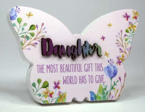 Spring Fever Butterfly Plaque 15x10cm Daughter