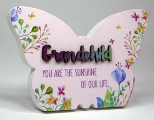 Spring Fever Butterfly Plaque 15x10cm Grandchild