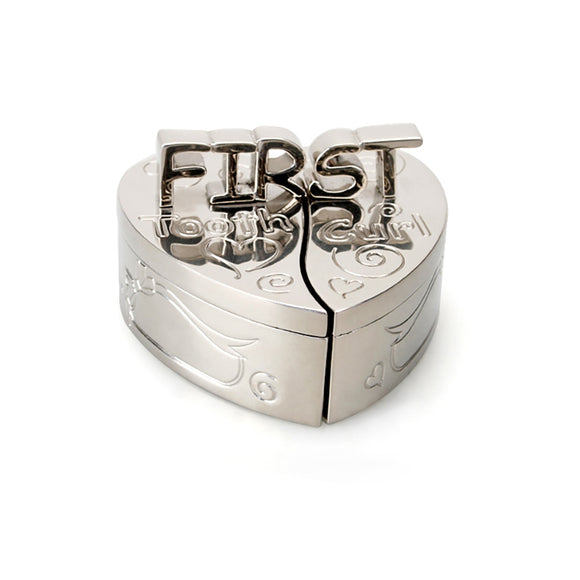 Whitehill Baby - Silverplated Heart First Tooth & Curl Box (2pc Set)