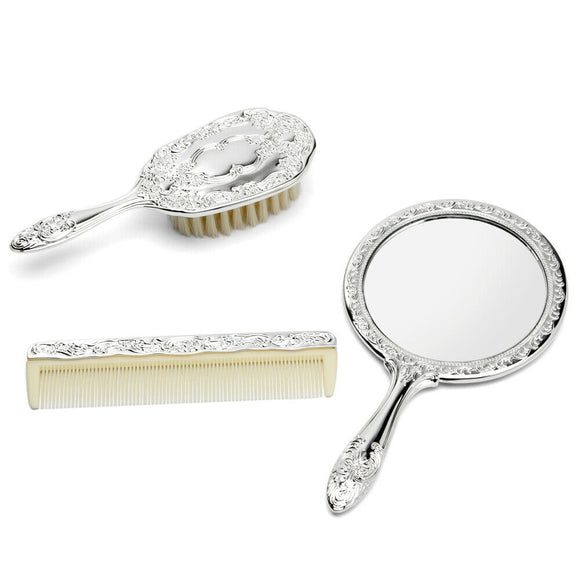 Whitehill - Silver Plated 3PCE Brush, Comb & Mirror